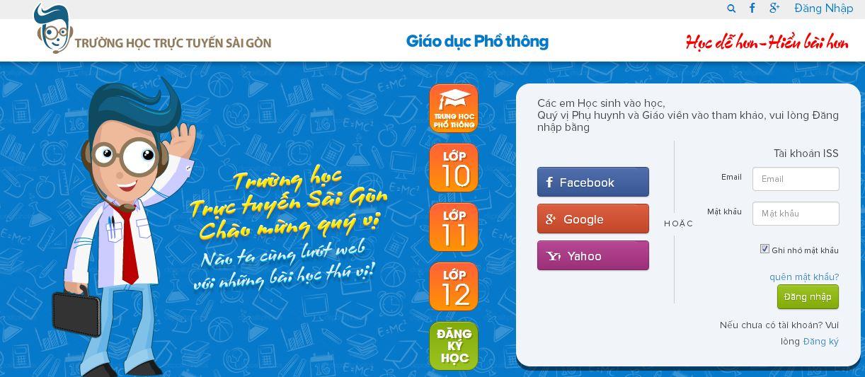 Kênh Youtube miễn phí – Trung Học Phổ Thông của Trường học Trực tuyến Sài Gòn